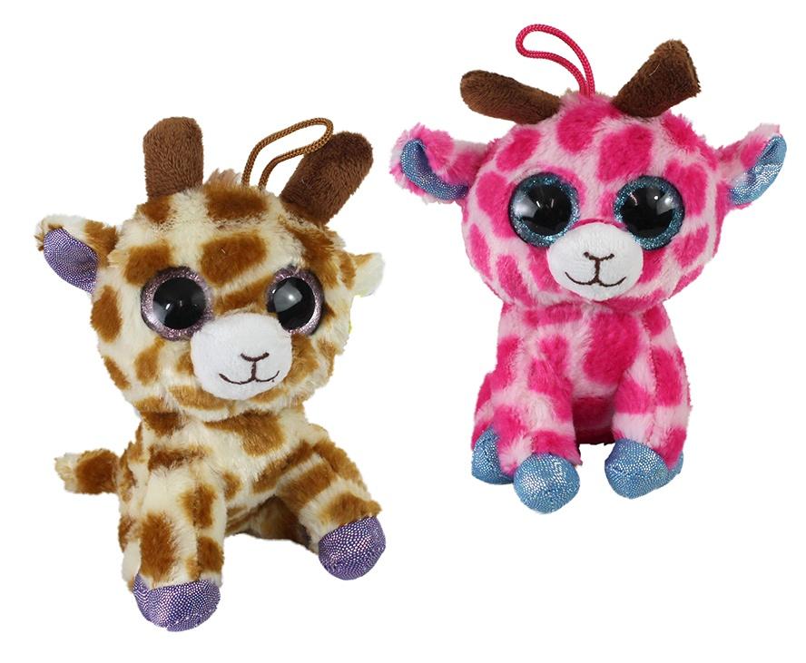 Giraffe 2-fach sortiert mit großen Glitzeraugen ca 17 cm