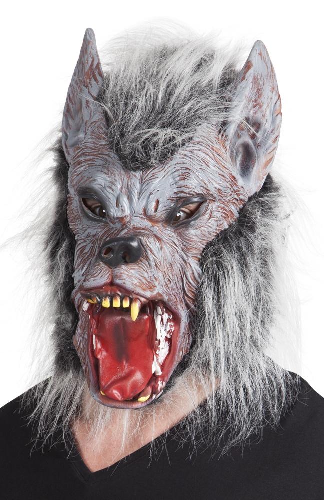 Maske Werwolf mit Fell - aus Latex