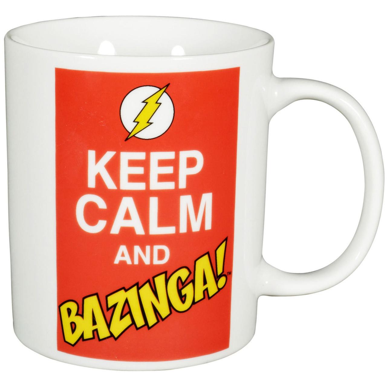 The Big Bang Theory - Kaffeetasse Keep Calm and Bazinga