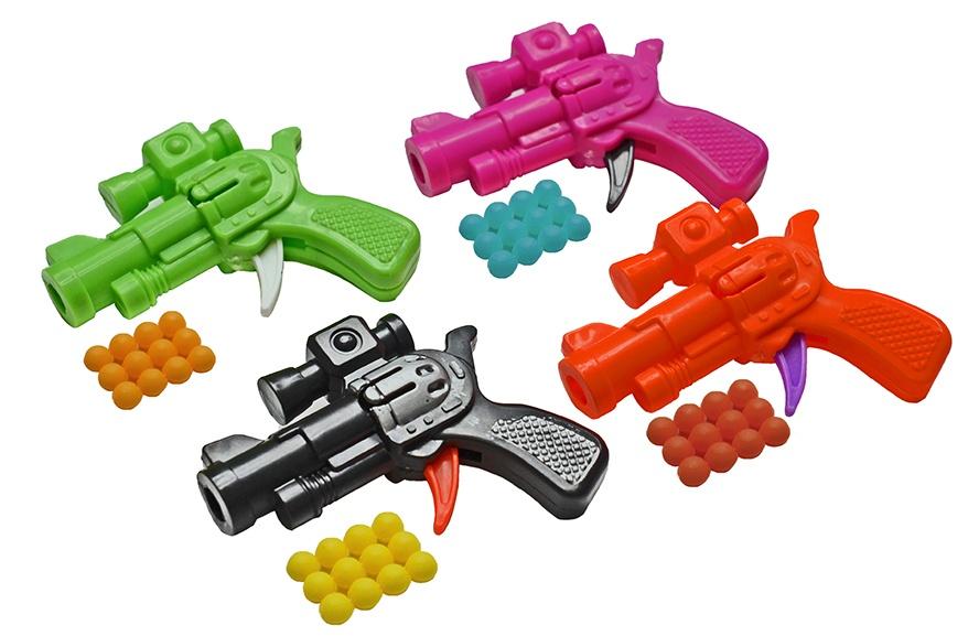 Kugelpistole mini mehrfach sortiert mit Munition - ca 6,5cm