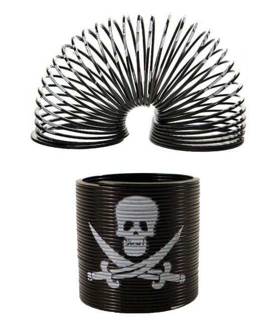 Spirale Pirat Totenkopf - ca 3,5cm