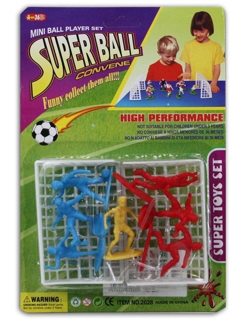 Fußballspiel mit Toren auf Karte ca 25x17cm