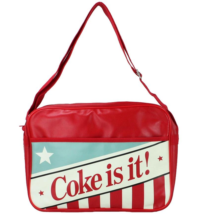 COKE AMERICANA Coca Cola Umhängetasche - ca 37x28x10cm