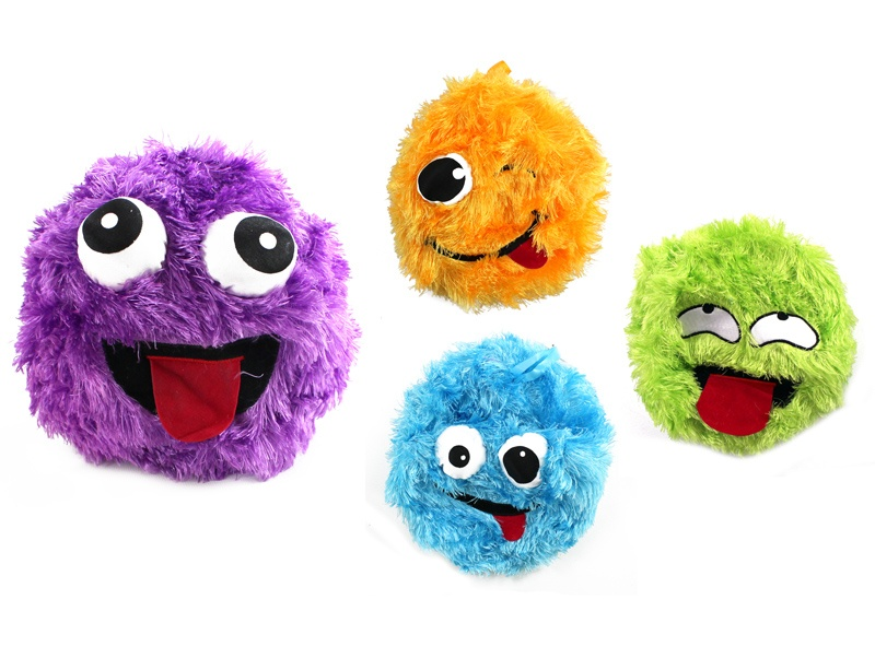 Fuzzyball  Ball mit Plüschhülle 4 Farben sortiert - ca 20cm