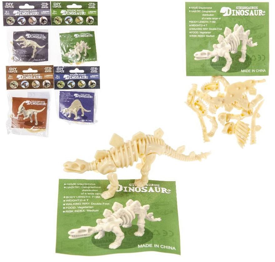 Puzzle Dinosaurier 15 teilig im Beutel  ca 13,5x9,5cm