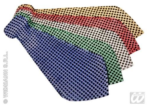 Krawatte - Riesenkrawatte glitzernd 5-fach  sort ca 44cm