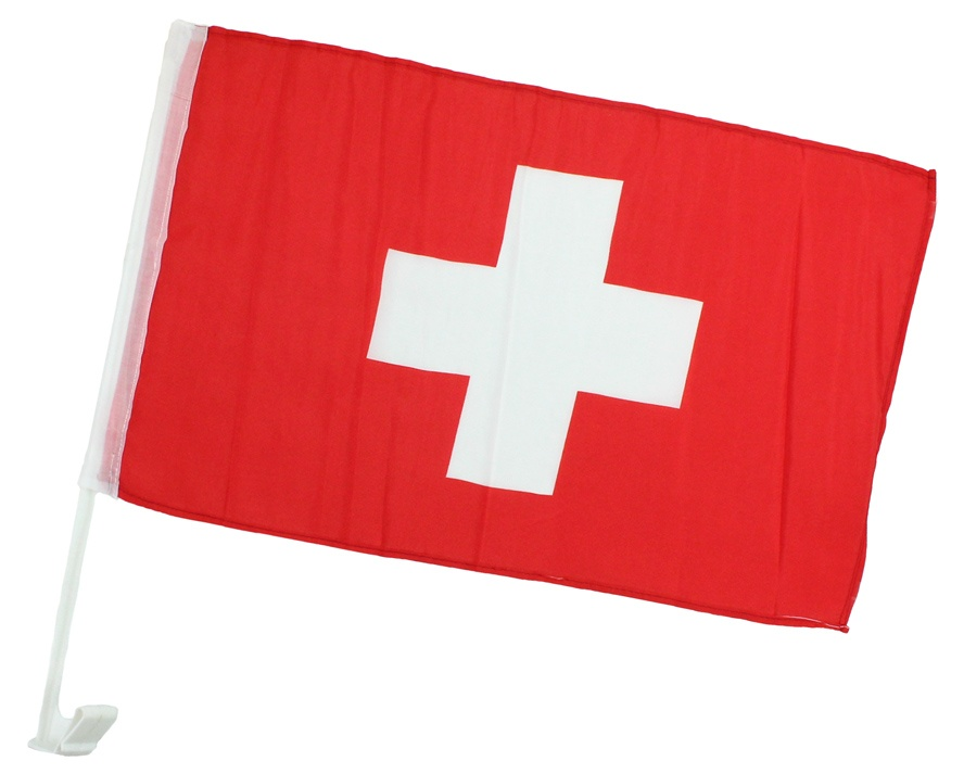 Autofahne Schweiz ca 45 x 30 cm