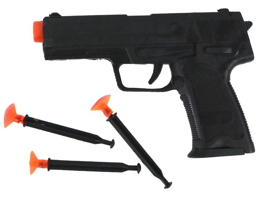 Pfeilpistole mit 3 Pfeilen im Beutel ca 16 cm
