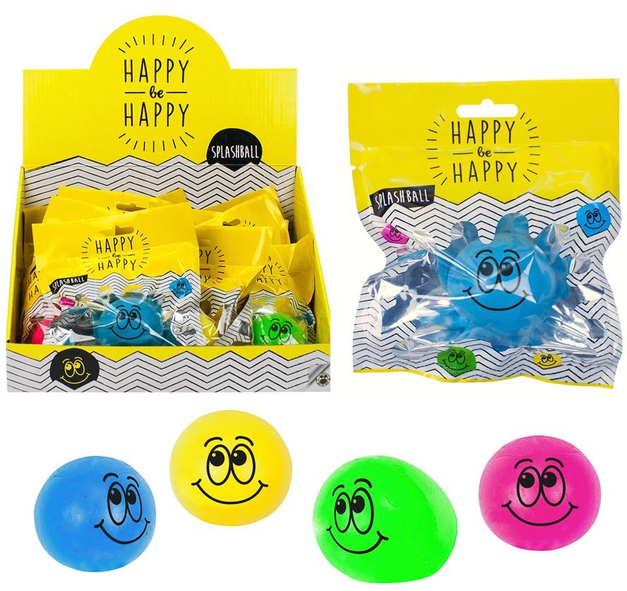 Splashball Be Happy 4 Farben sortiert - ca 5,5cm