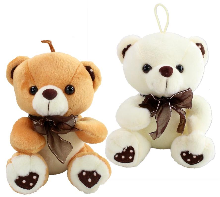 Bär sitzend beige und braun sortiert ca 20 cm