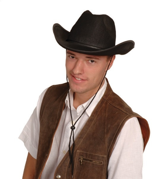 Cowboyhut schwarz Filz
