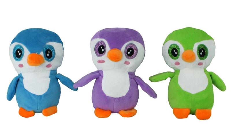 Pinguin mit Glitzeraugen 3-fach sortiert sitzend ca 18 cm