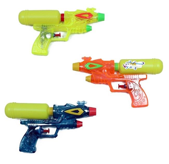 Wasserpistole 3-fach sortiert Doppelschuss ca 21 cm