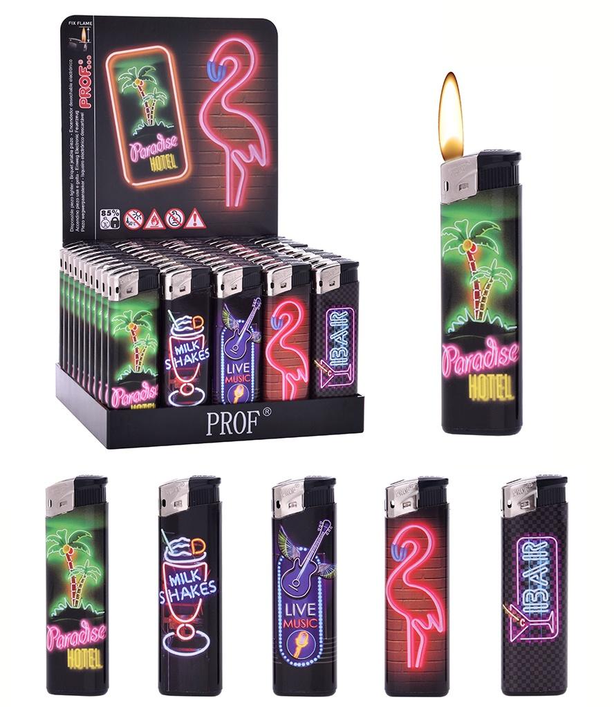 Feuerzeug elektronisch Neon 5 fach sortiert ca 8cm