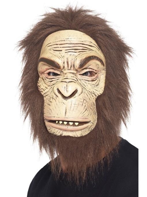 Maske Affe mit Haar Latexschaum