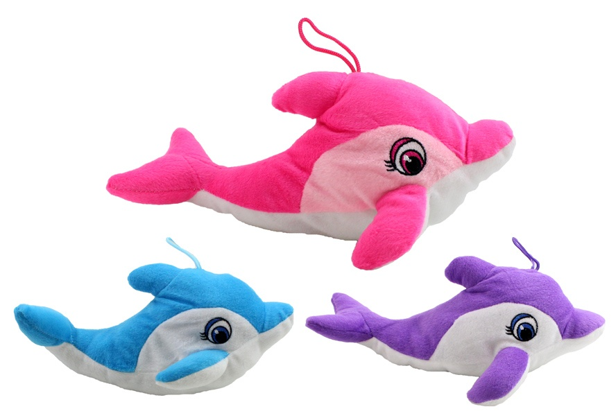 Delfin 3 farbig sortiert ca 28 cm
