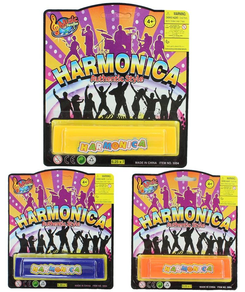 Mundharmonika 3-fach sortiert auf Karte ca 18x16cm