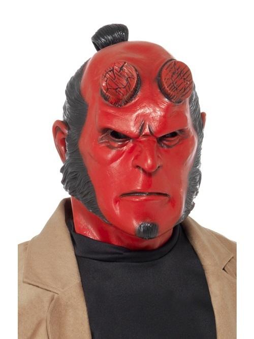 Maske Hellboy Vollmaske Latex