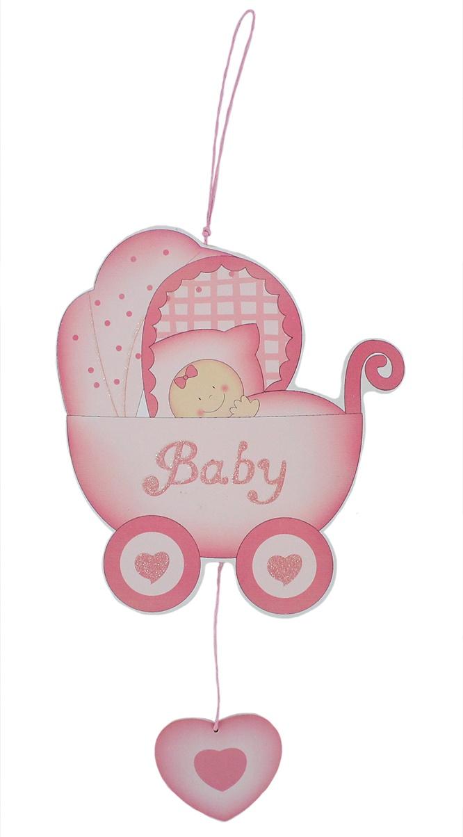 Bieco Baby Deko Hänger rosa ca 23,5x15cm