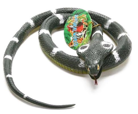 Kobra aus Gummi - ca 81 x 5 x 2 cm