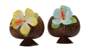 Hawaii Party Becher Kokosnuss  ca 10 cm