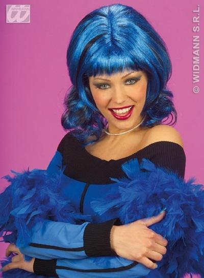 Perücke - Sharona - blau