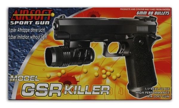 Pistole mit Laserattrape (ohne Funktion) max 0,49 J -ca 22cm