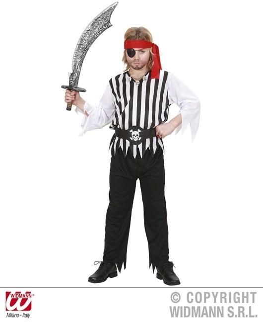 Kostüm Pirat (Coat, Hose, Gürtel, Stirnband) Größe 140