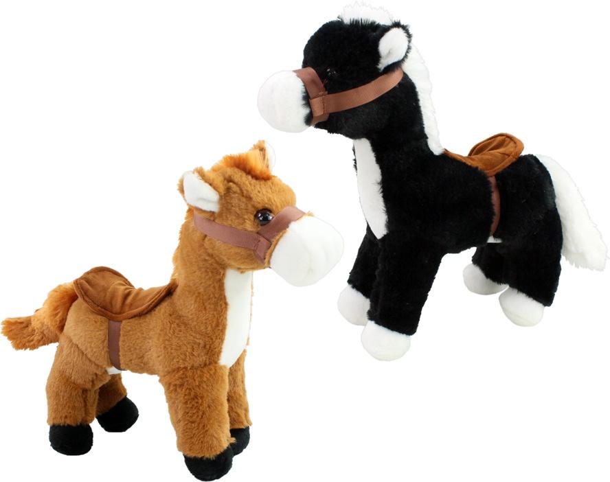 Pferd 2-fach sortiert mit Sattel stehend ca 30 cm