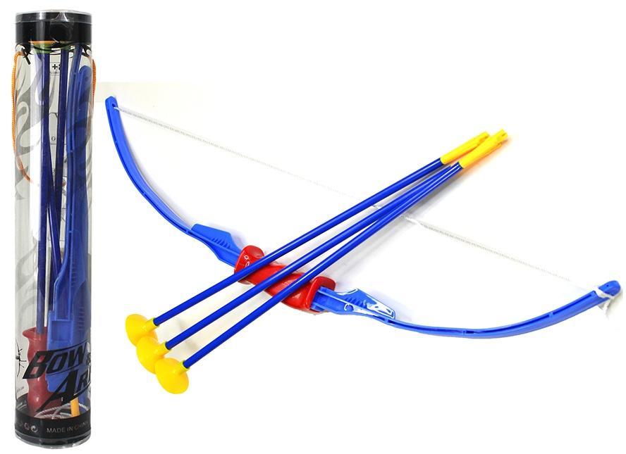 Pfeil und Bogen Bogen (70 cm) und 3 Pfeile, in Dose ca 44 cm