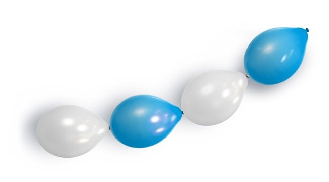 Ballongirlande blau-weiß  Oktoberfest - ca 3m