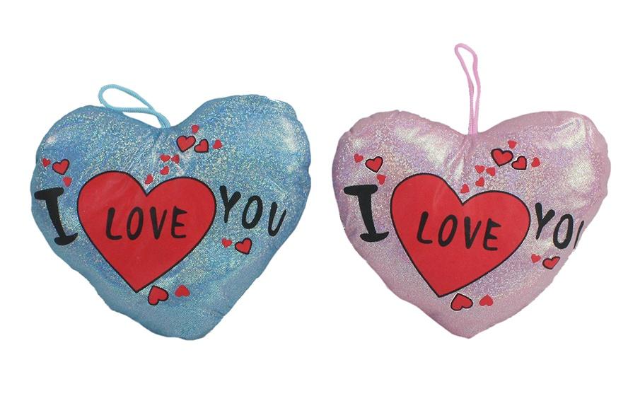 Plüsch Herz mit Aufruck I LOVE YOU ca 20 cm
