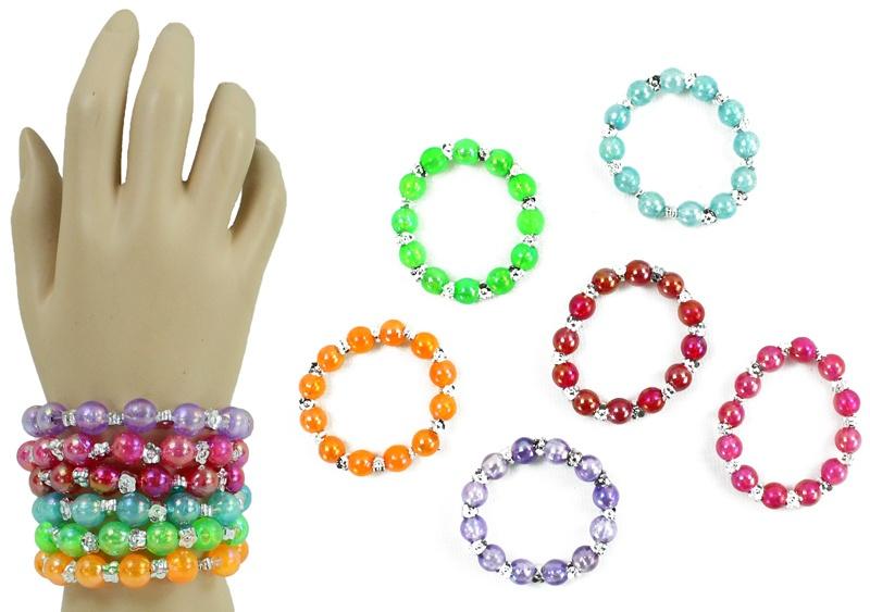 Armband Perlen 6-fach sortiert - Umfang ca 13cm