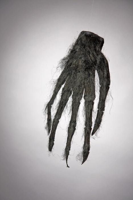 haarige schwarze Hand, 1 Handschuh