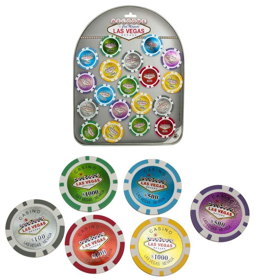 Magnet Casino Jetons COOLMAGNETS ca 4,8 cm