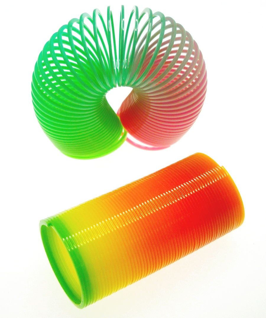 Regenbogenspirale neonfarben ca 6,5x3,5cm