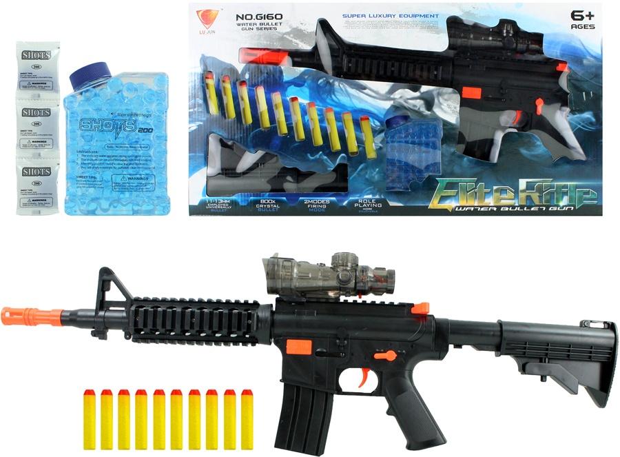 Softair Shooter mit 10 Softpfeilen und Wasserkugeln -ca 67cm
