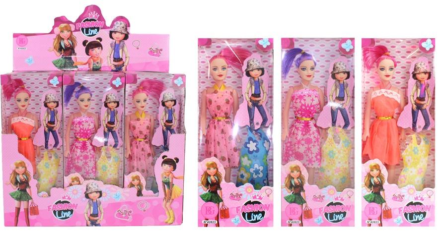 Puppe Modepuppe mit Ersatzkleid ca 27 cm