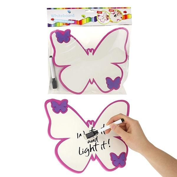 Schreibtafel Whiteboard inkl Stift Schmetterling ca 24x21cm