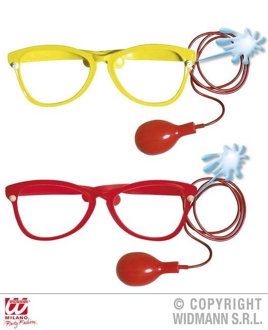 Spritzbrille groß, rot und gelb sortiert - ca 27cm breit
