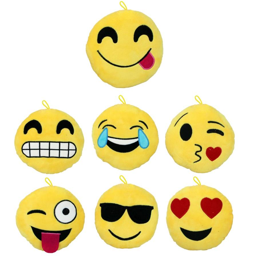 Kissen Smilie Emoticon 7-fach sortiert ca 15 cm