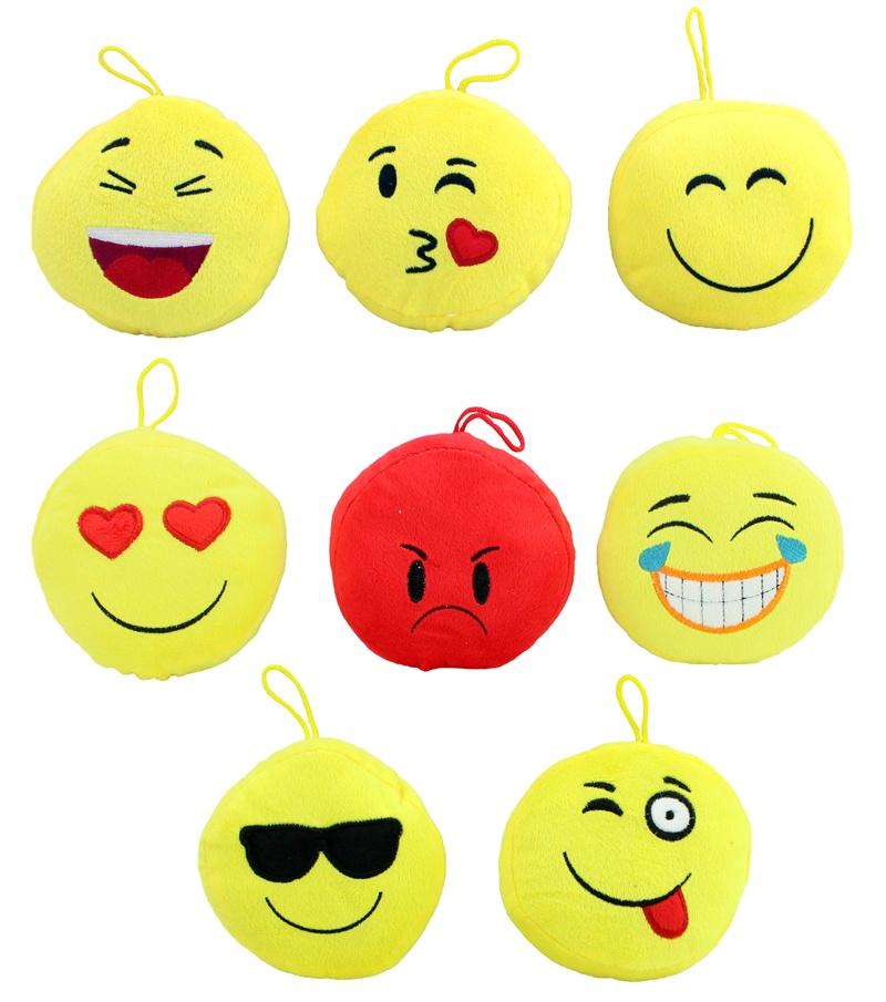 Kissen Smile Emoticon 8 fach sortiert ca 13 cm