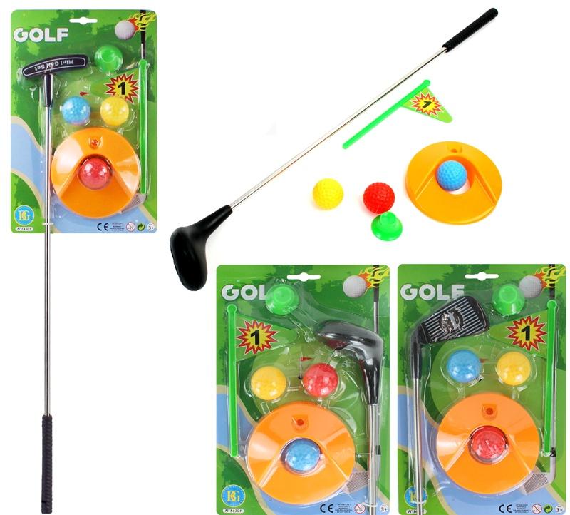 Golfset mit 3 Bällen  3-fach sortiert ca 59 cm
