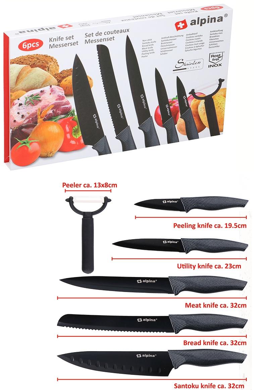 Messerset 6 Stück in Karton ca 35,5x21,5x3cm