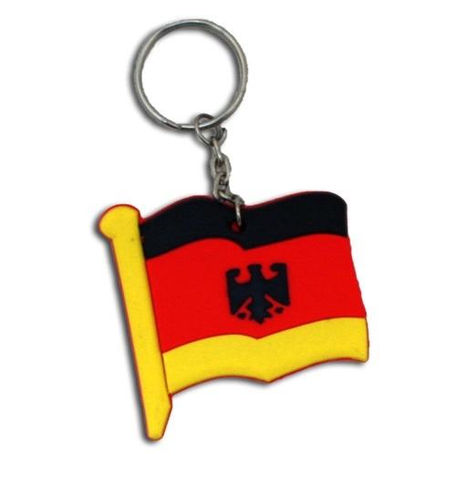 Flagge - Deutschlandflagge mit Adler Silikon an SK ca 5 cm