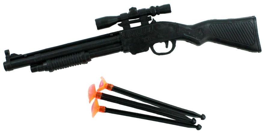 Gewehr mit 3 Saugnapfpfeilen - ca 28,5cm