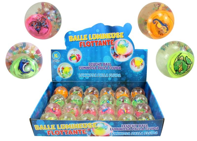 Ball leuchtend  4 Farben sortiert ca 45 mm