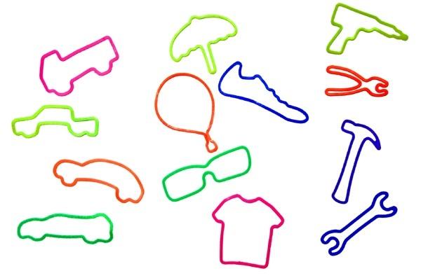 Gummi Armband- Fun Bands- 12 Stck - verschiedene Motive