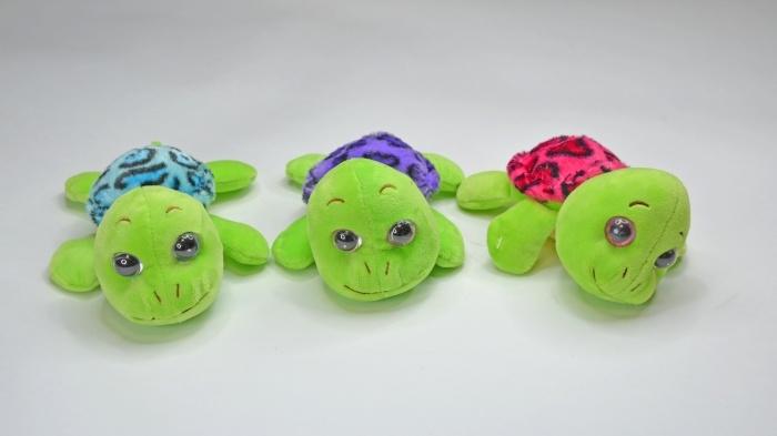 Schildkröte 3-farbig sortiert mit Glitzeraugen ca 18cm
