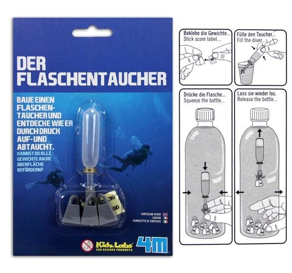 Der Flaschentaucher Lernspielzeug - auf Karte ca 19,5x13cm